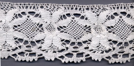 "3.25"" Cotton Cluny Rossetti Edge Lace-Raw White"