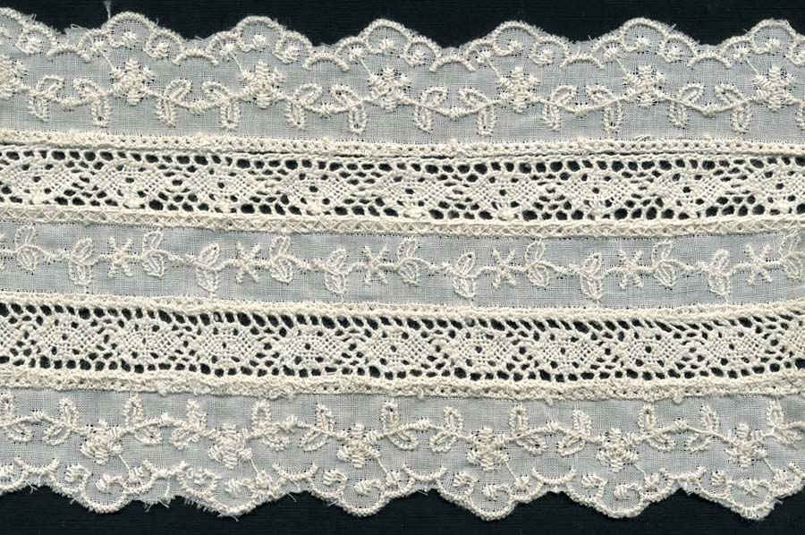 "2.75"" Cotton Cluny Edge Lace With Eyelet-Natural"