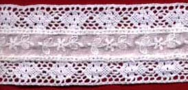 "1.75"" Cotton Cluny Galloon Lace With Eyelet-White"