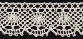 "1+7/8"" Cotton Cluny Edge Lace-Natural"