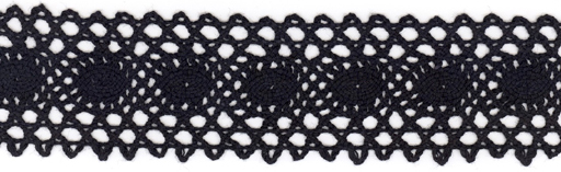 "1+5/8"" Cotton Cluny Galloon-Black"