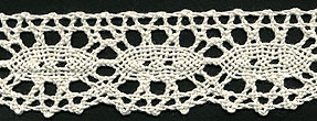 "1 3/16"" Cotton Cluny Ciardi Edge Lace-Natural"