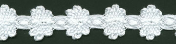 "1"" Cotton Cluny Button Hole Lace-White"