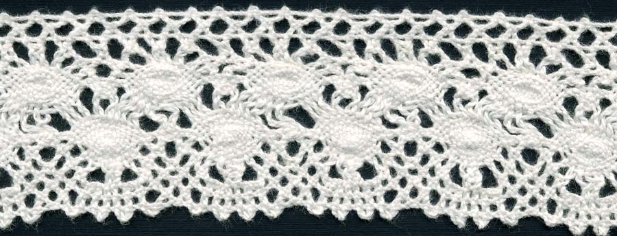 "1+7/8"" Cotton Cluny Galilei Edge Lace-Natural"