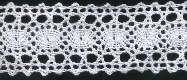 "1+3/8"" Cotton Cluny Galloon Lace-White"