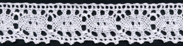 "1+3/16"" Cotton Cluny Ciardi Edge Lace-White"