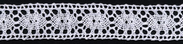 "1"" Cotton Cluny Galloon Lace-White"