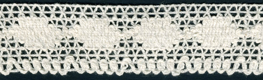 "1.25"" Cotton Knit Crochet Edge Lace-Natural"