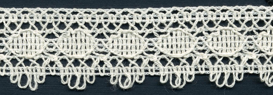 "1.25"" Cotton Knit Edge Lace-Natural"