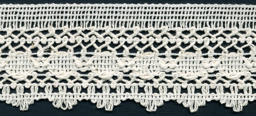 "2 3/16"" Cotton Knit Edge Lace-Natural"