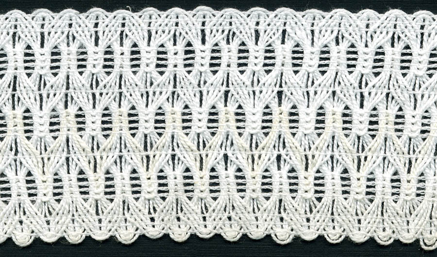 "2"" Cotton Crochet Galloon Lace-White"