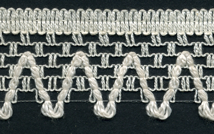 "1"" Poly Knit Edge Lace-Natural<br>$0.05 per yard, see Special Pricing Tab"
