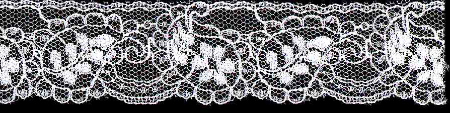 "1-3/8"" Rigid Galloon Leaf Lace-White<br>Made in USA"