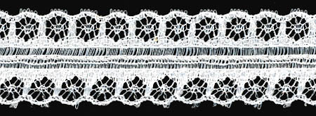 "1"" Raschel Lace Galloon-White"