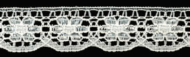"3/4"" Poly Raschel Lace-Ivory"