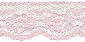 "1"" Poly Flat Raschel Lace-Light Pink"