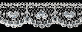"1"" Poly Flat Raschel Lace-Ivory"