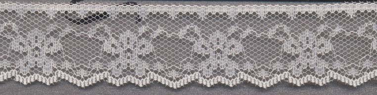 "1.125"" Poly Flat Raschel Lace-Ivory"
