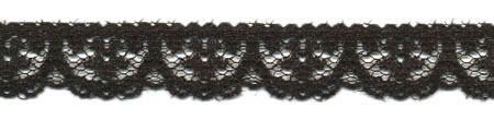 "1/2"" Poly Flat Raschel Lace-Black"