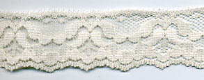 "1+1/4"" Poly Flat Raschel Lace-Ivory"