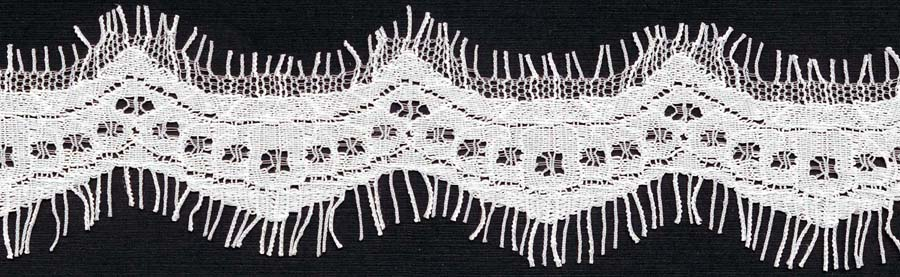 "1"" Wave Edge Lace-Raw White<>Chantilly / Eyelash Lace"