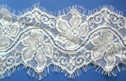 "2.5"" Double Curve Edge Lace-White"