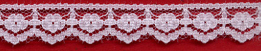 "9/16"" Poly Edge Lace-White"