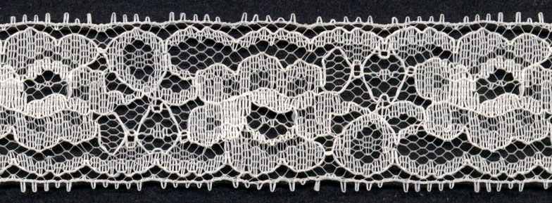 "1.25"" Poly Galloon Lace-Natural"