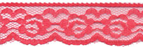 "1.25"" Poly Edge Lace-Red"