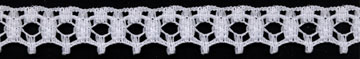 16MM Polyester Edge Lace-White
