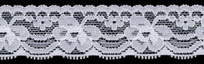 "1.18"" Nylon Stretch Lace Edge White"