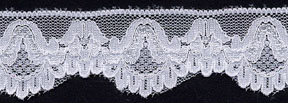 "1.316"" Nylon Stretch Lace Edge White"