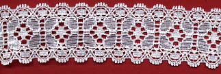 "1.18"" Nylon Stretch Lace White"