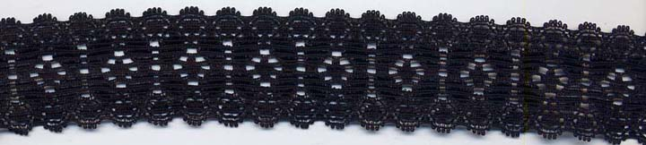 "1.18"" Nylon Stretch Lace Black"