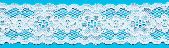 "1.38"" Nylon Stretch Lace Galloon White"