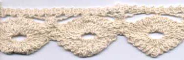 "1 1/2"" Cotton Venise Lace Circle-Natural"