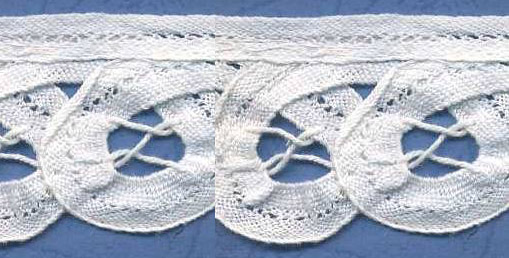 "1 1/2"" Cotton Battenberg Venise Lace-White"