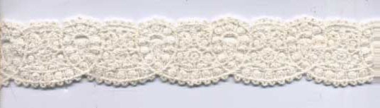 "1 1/4"" Cotton Venise Lace-Raw White"