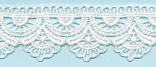 "1 1/4"" 100% Cotton Venise Lace-White"