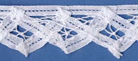 "1 3/8"" Cotton Venise Lace Battenberg Edge-White"