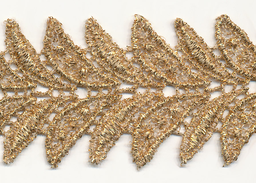 "1 1/2"" Metallic Venise Lace-Gold"