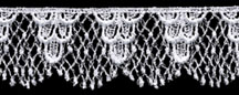 "1 1/2"" Rayon Venise Lace Edge-White"
