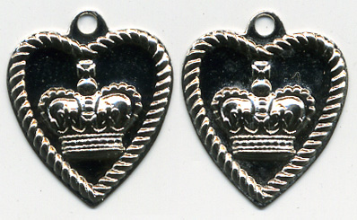 "5/8"" Heart Charm Coin-Nickel"