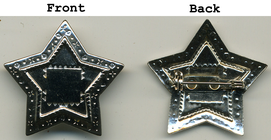 "1.25"" Star Pin Concho-Nickel"