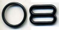 "1/2"" Nylon Coated O Ring & Slider-Black"