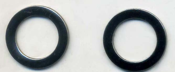 "3/4"" OD Metal Ring-Gun Metal"