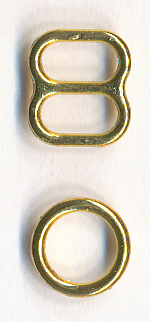 "1/4"" Metal Slider & O'ring-Gold"