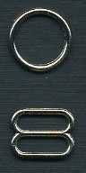 "3/8"" Metal O Ring & Slider-Nickel"