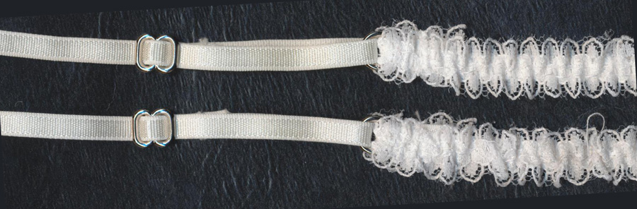 "11.75"" X 2"" Sheer Lace Bra Strap-White"