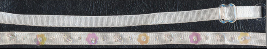 "20"" Sequin Bra Strap-White"